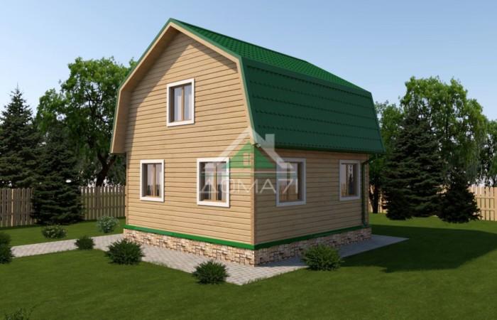 Дачный дом 6x7,5 проект 25 цена под ключ