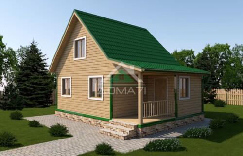 Дачный домик 6x8 проект 26