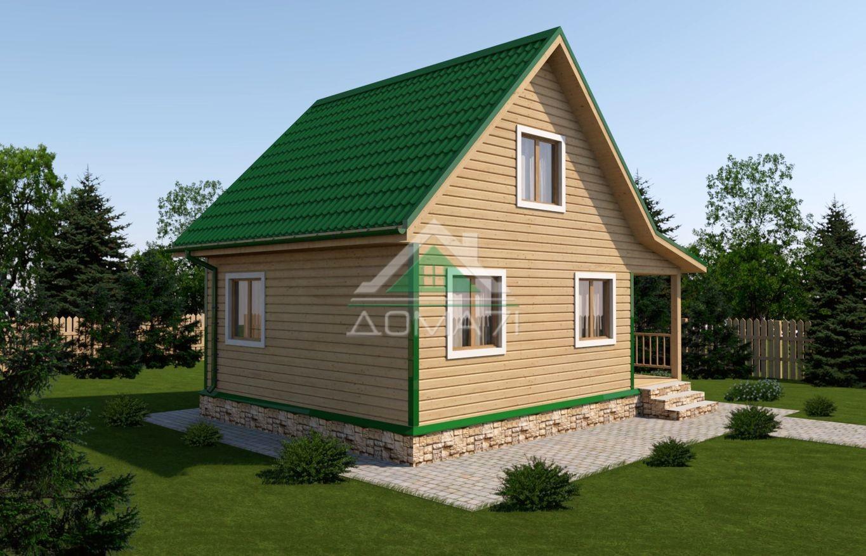 Дачный домик 6x8 проект 26 под ключ