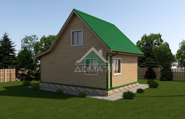 Дачный домик 6x8 проект 26 цена
