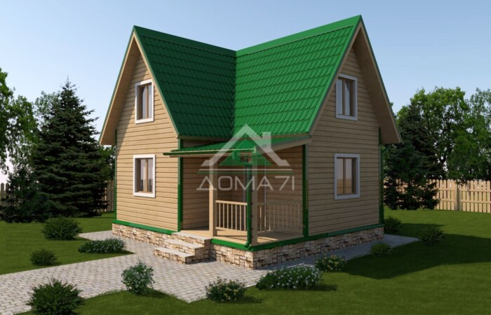 Дачный дом 6x7 проект 27