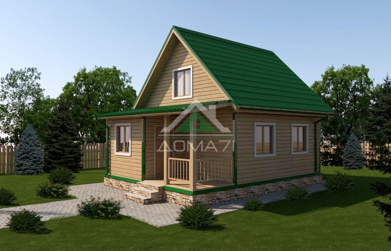 Дачный домик 6x8 проект 28