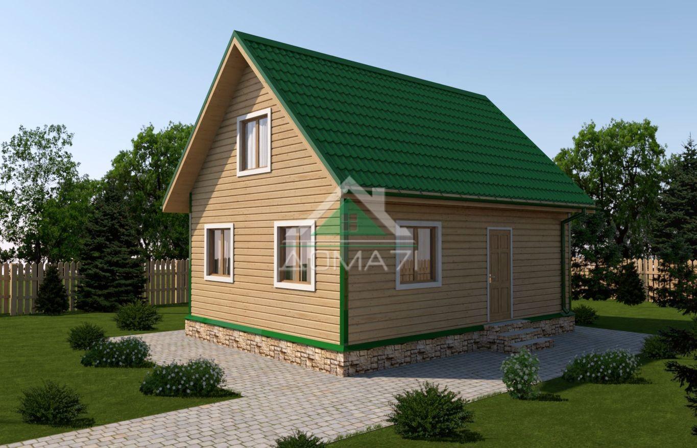 Дачный дом 6x8 проект 29