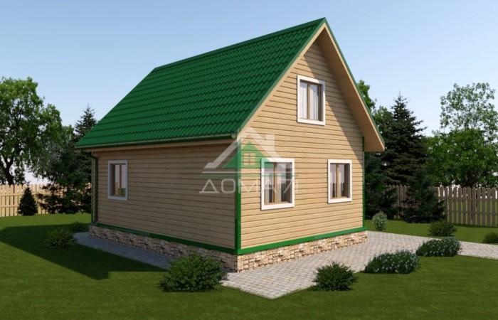 Дачный дом 6x8 проект 29 под ключ