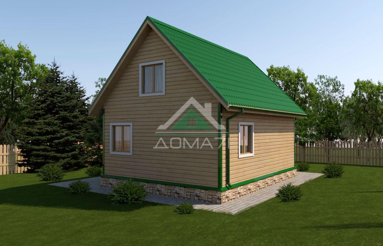 Дачный дом 6x8 проект 29 цена строительства