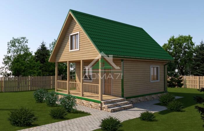 Дачный дом 6x8 проект 30 цена под ключ