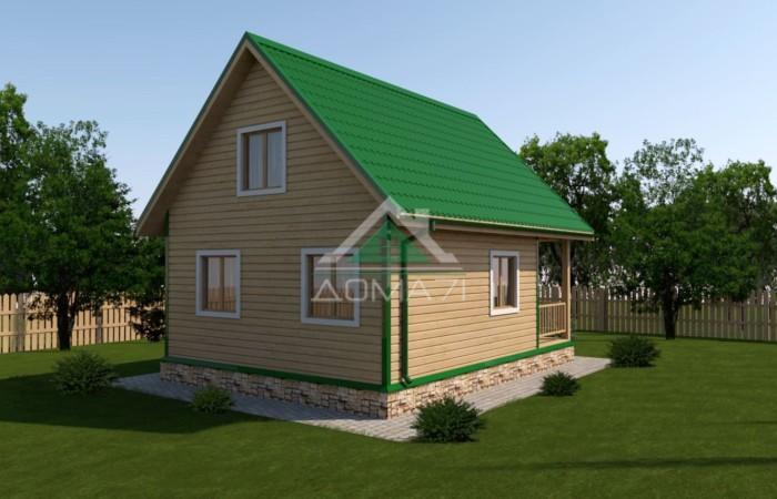 Дачный дом 6x8 проект 30 под ключ недорого