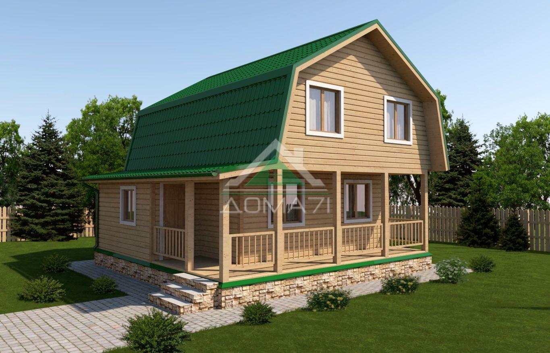 Дачный дом 7,5x7,5 проект 32