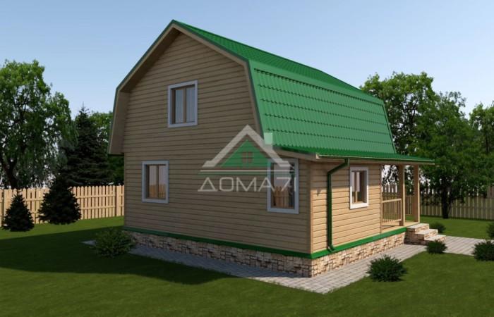 Дачный дом 7,5x7,5 проект 32 под ключ