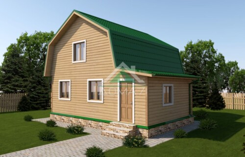 Дачный дом 7x8 проект 33