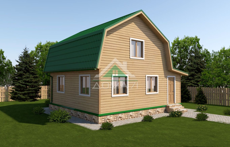 Дачный дом 7x8 проект 33 под ключ
