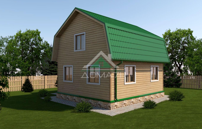 Дачный дом 7x8 проект 33 с верандой