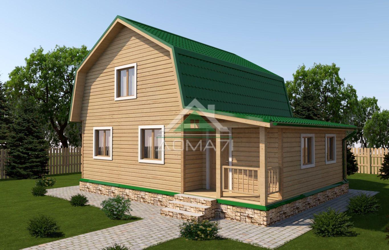 Дачный дом 7x9 проект 34 двухэтажный