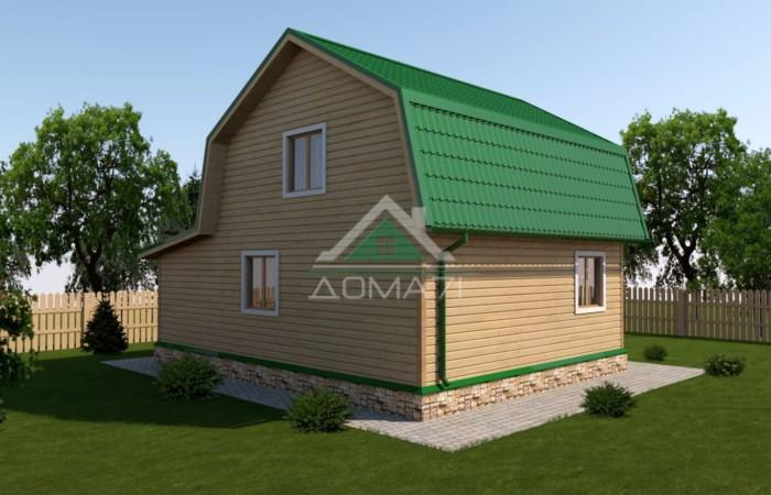 Дачный дом 7x9 проект 34 двухэтажный с террасой