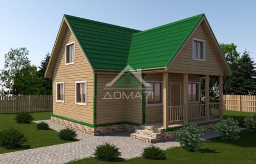 Дачный дом 9x9 проект 35 двухэтажный