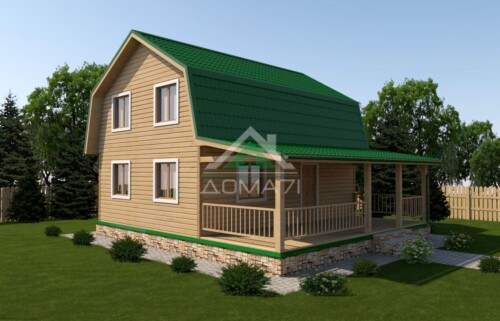 Дачный дом 8x9 проект 36 двухэтажный