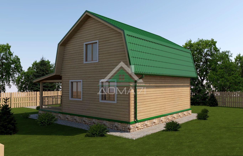 Дачный дом 8x9 проект 36 с мансардой