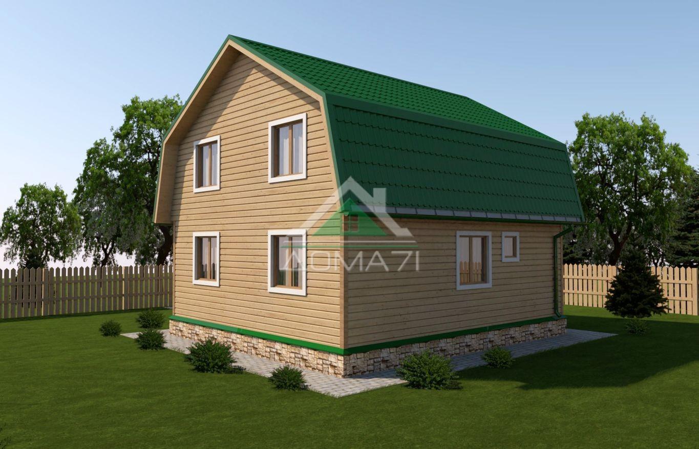 Дачный дом 7x9 проект 37 два этажа