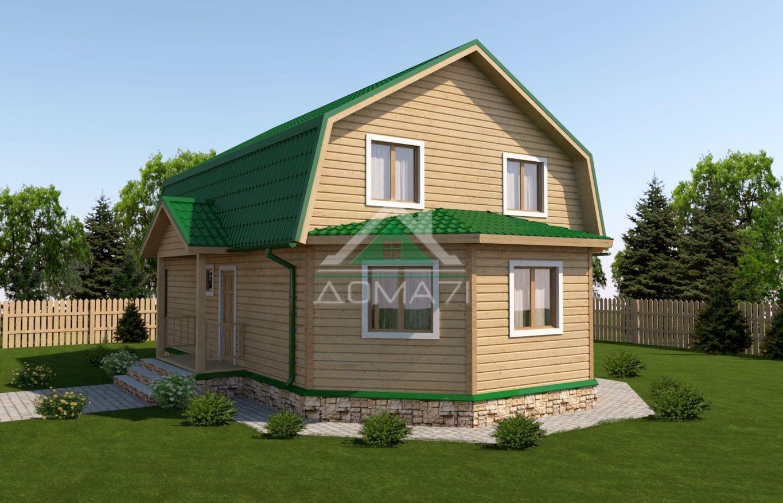 Большой дачный дом 7x11 проект 38 под ключ