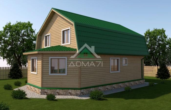 Большой дачный дом 7x11 проект 38 цена