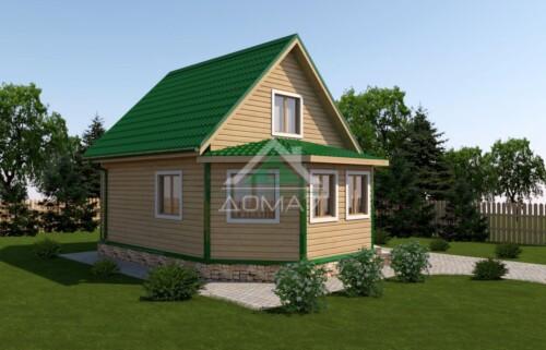 дачный дом 6x8 проект 39 цена строительства
