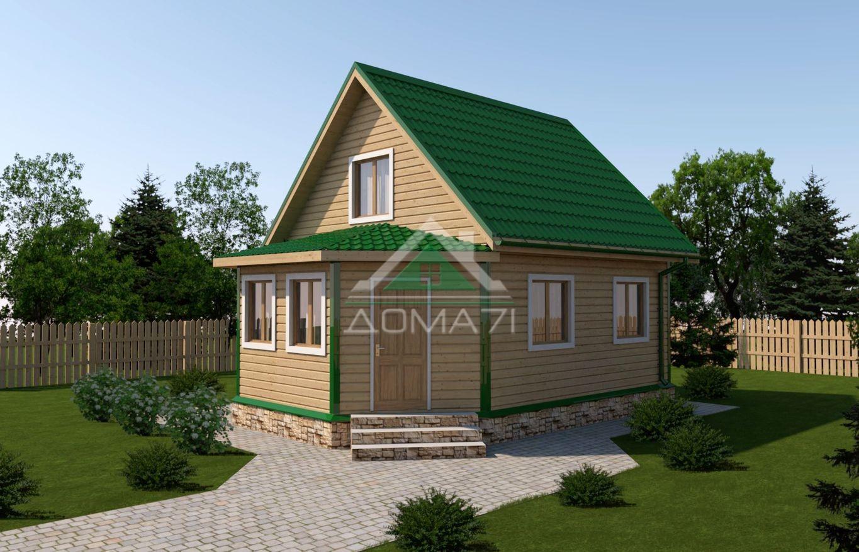 дачный дом 6x8 проект 39 цена строительства под ключ