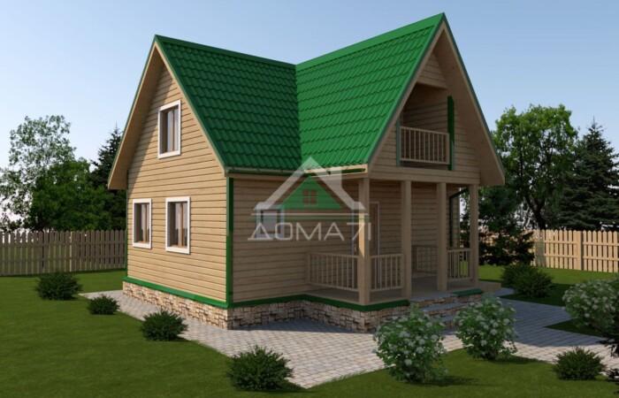 дачный дом 8x8 проект 40 цена строительства под ключ