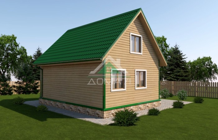 дачный дом 8x8 проект 40 с мансардой