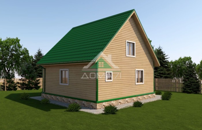 дачный дом 8х8 проект 42