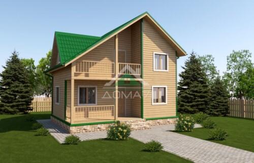 Дачный дом 6х8 цена проект 43