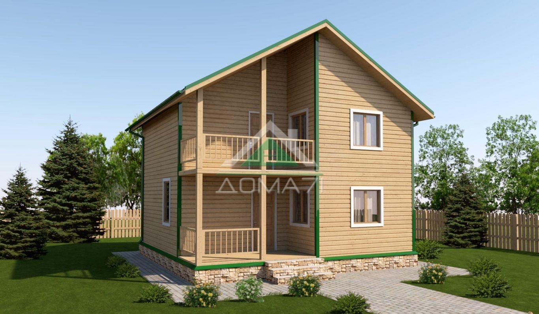 Дачный дом 8х8 цена проект 44 под ключ