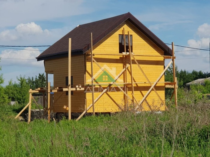 Каркасный дом 6х6 вид сзади