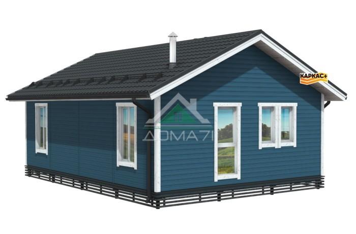 Каркасный одноэтажный дом из доски камерной сушки