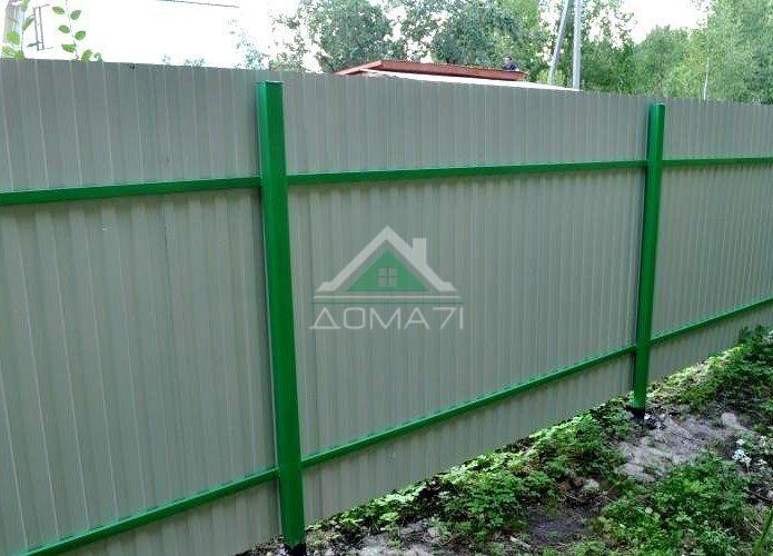 Забор из профнастила с односторонним покрытием