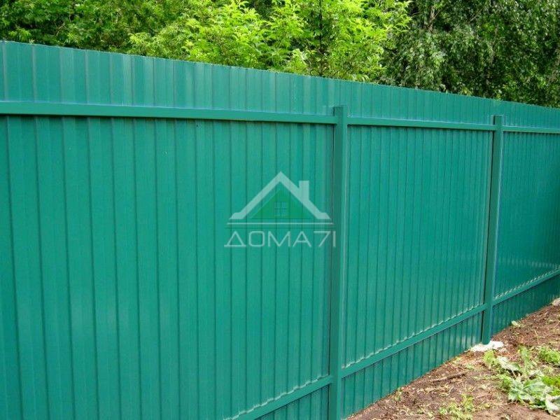 Забор из профнастила с двухсторонним покрытием