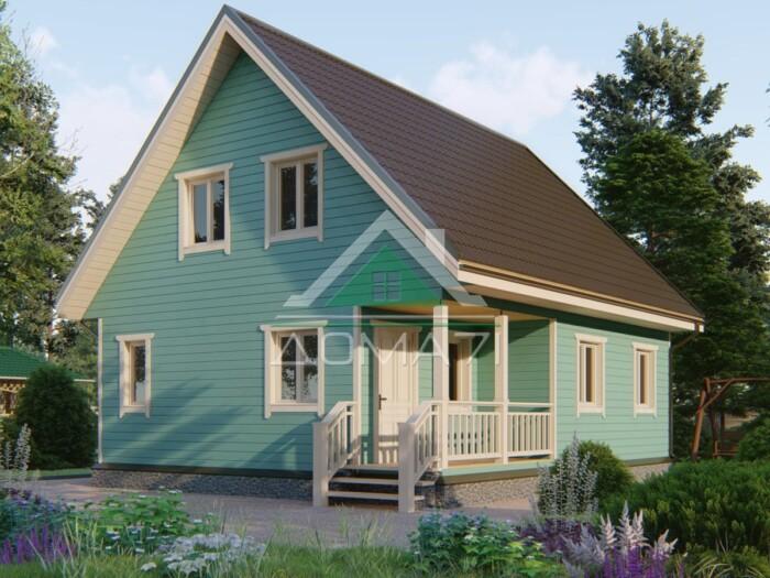 Каркасный дом 9x7.5 строительство под ключ в Туле