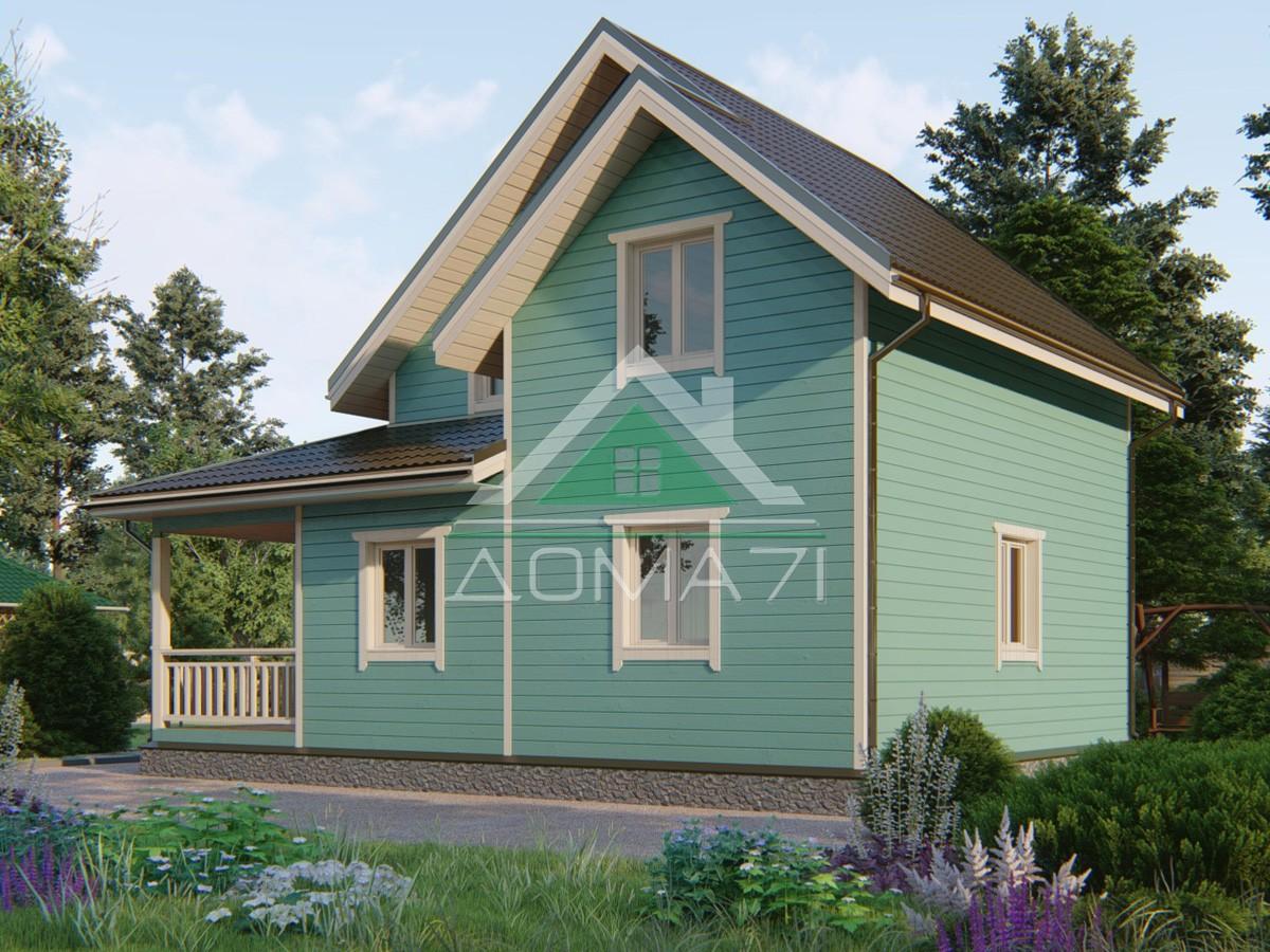 Каркасный дом 9.5×7 проект 49