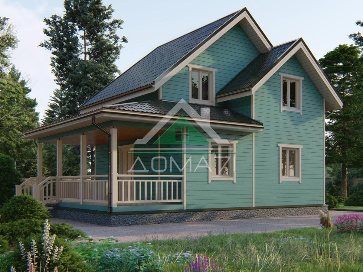 Каркасный дом 9.5×7 проект