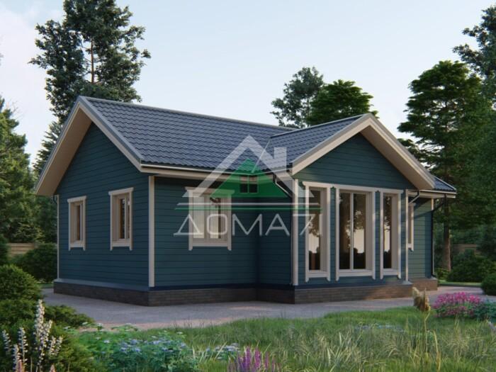 Каркасный одноэтажный дом 10x7.5