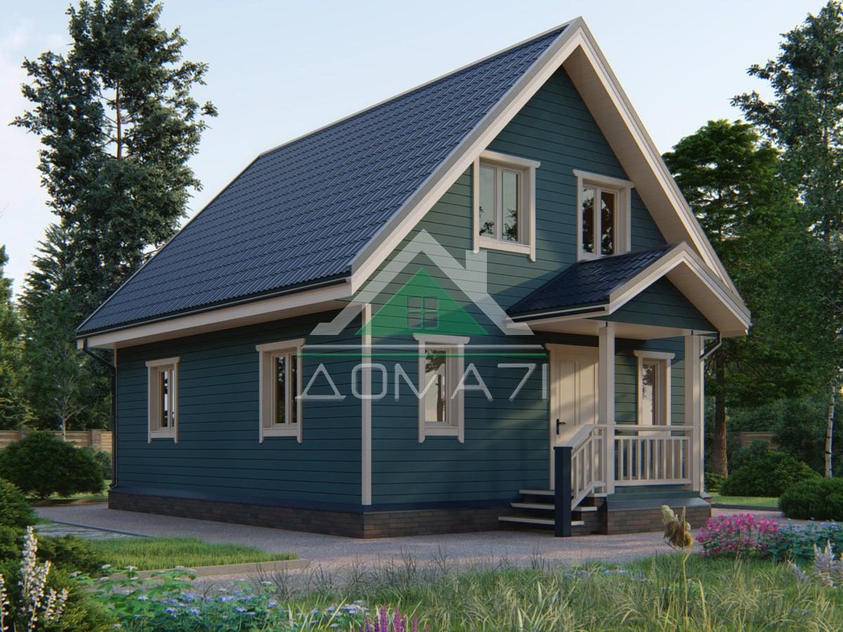 Каркасный дом 8.5x7 двухэтажный