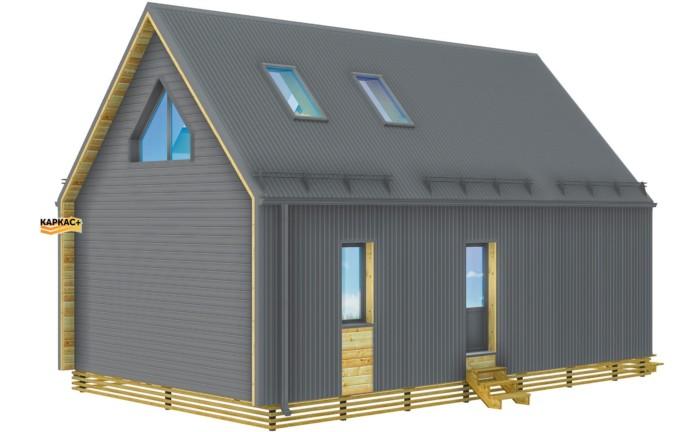 Тула каркасный дом барнхаус под ключ