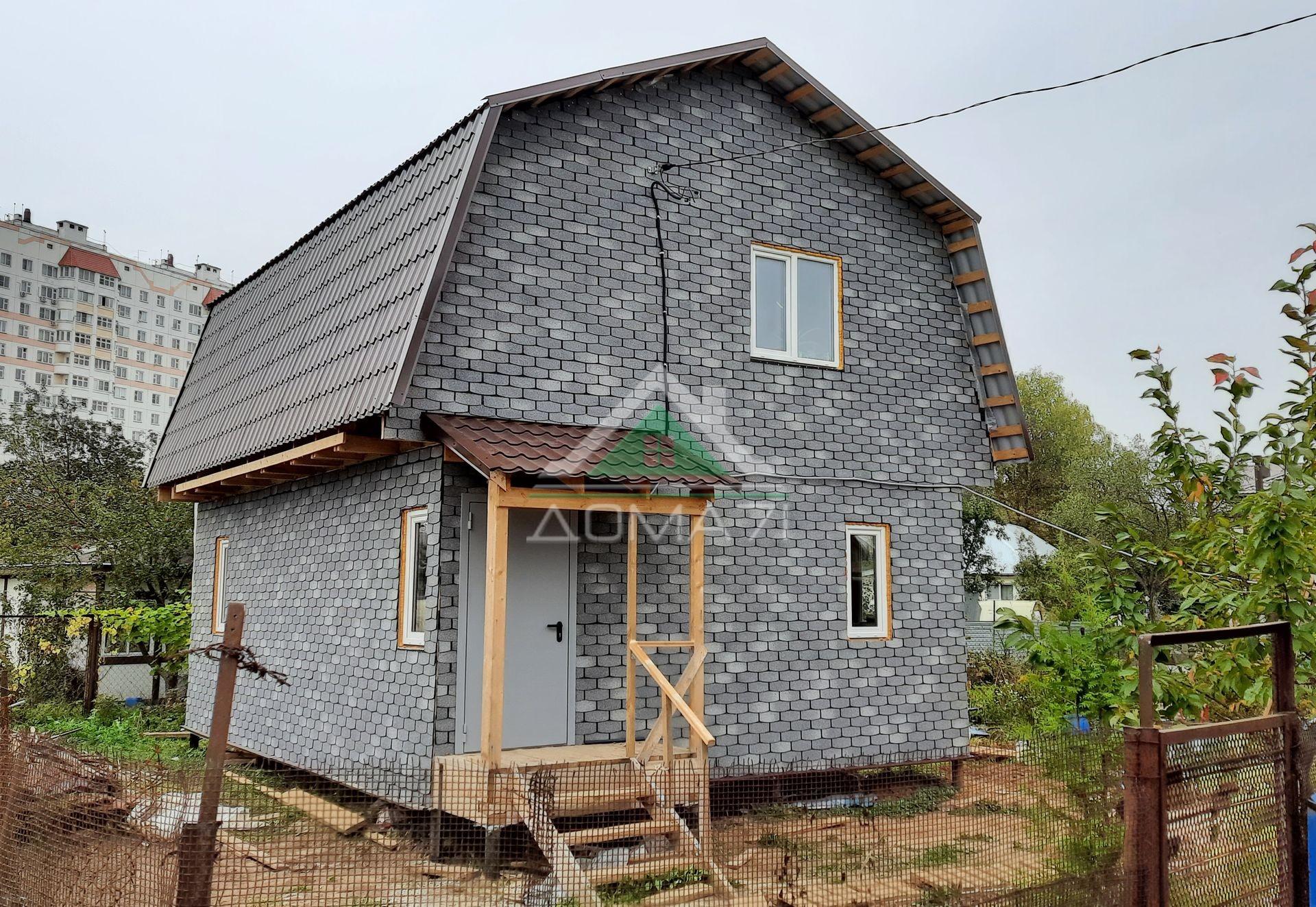 Каркасный дом 6х8 с мансардой