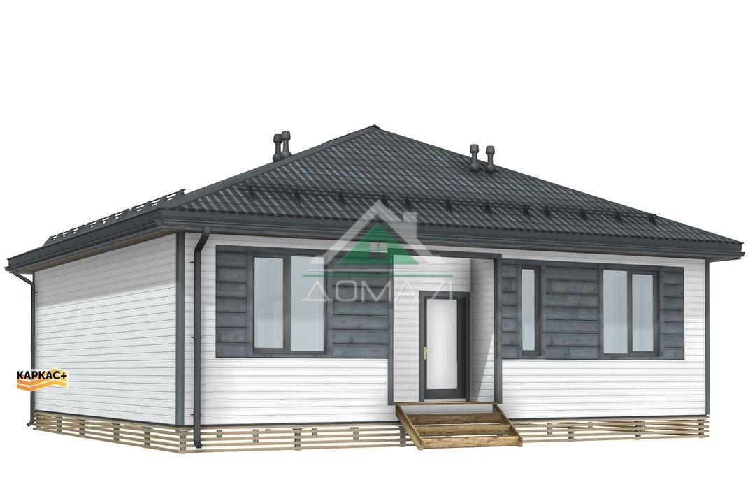 Каркасный дом 10х11 вид