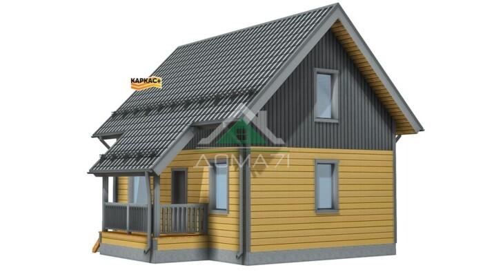 Проект Каркасного дома 6х8,5