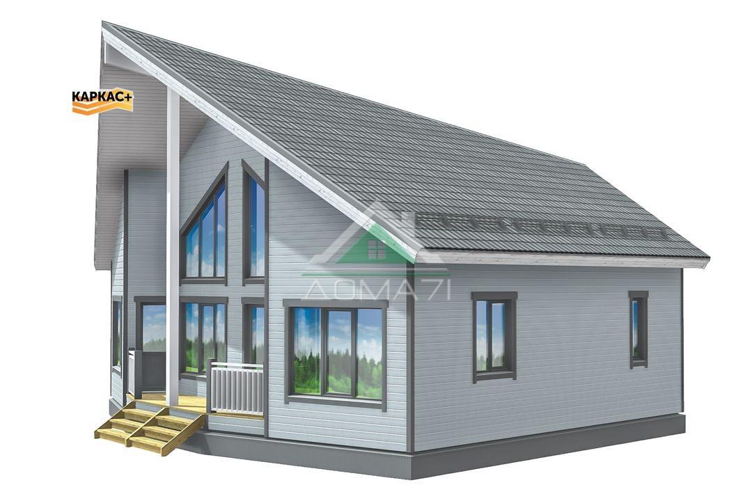 Каркасный дом 10х12 со вторым светом