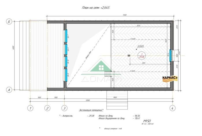 Барнхаус 6х12 планировка второй этаж