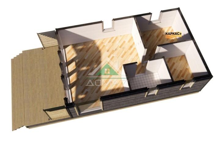 Каркасный дом 6х12,5 планировка этажа