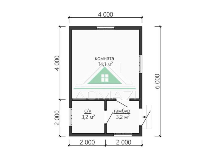 Дачный домик 4х6 проект под ключ