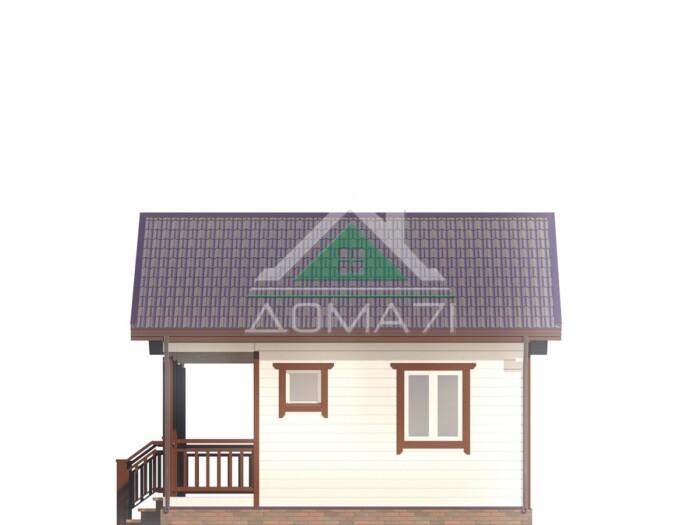 Дачный домик 6 на 6 проект под ключ в Туле