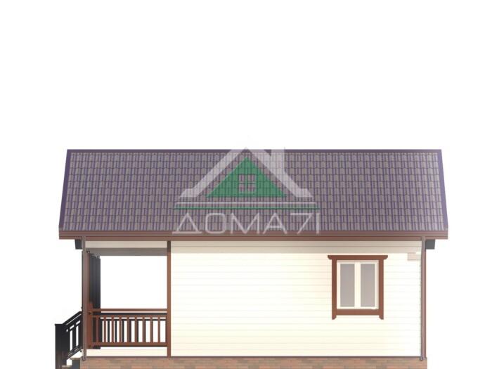 Проект Каркасный дом 6х8 одноэтажный с террасой